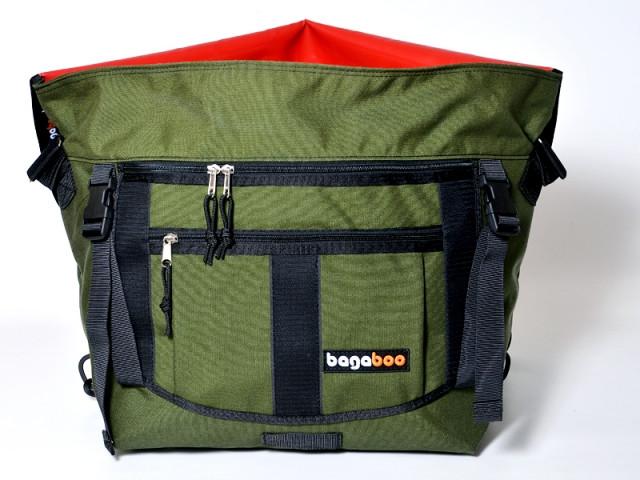 bagaboo messenger bag buckles on the pocket sides